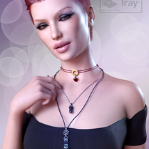 Crystal Necklaces for Genesis 8 Female and Male image 1
