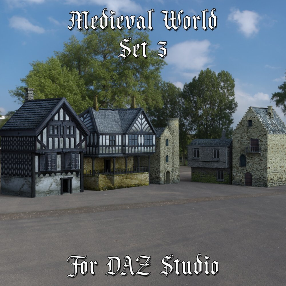 Medieval World Set 3 for DAZ Studio by VanishingPoint