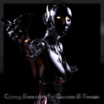 CyBody - Cyborg Internal Structure and Materials for Genesis 8 Female image 1