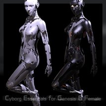 CyBody - Cyborg Internal Structure and Materials for Genesis 8 Female image 3