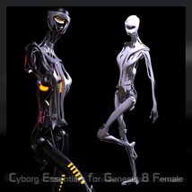 CyBody - Cyborg Internal Structure and Materials for Genesis 8 Female image 4