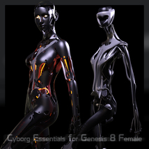 CyBody - Cyborg Internal Structure and Materials for Genesis 8 Female image 5