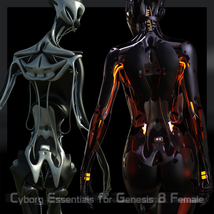 CyBody - Cyborg Internal Structure and Materials for Genesis 8 Female image 6