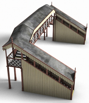 GWR Footbridge - Extended License 3D Models Extended Licenses DryJack