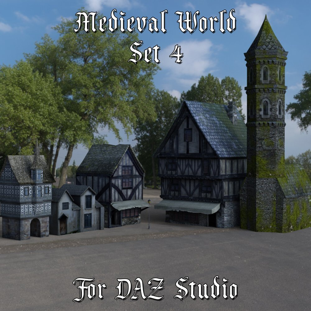 Medieval World Set 4 for DAZ Studio by VanishingPoint
