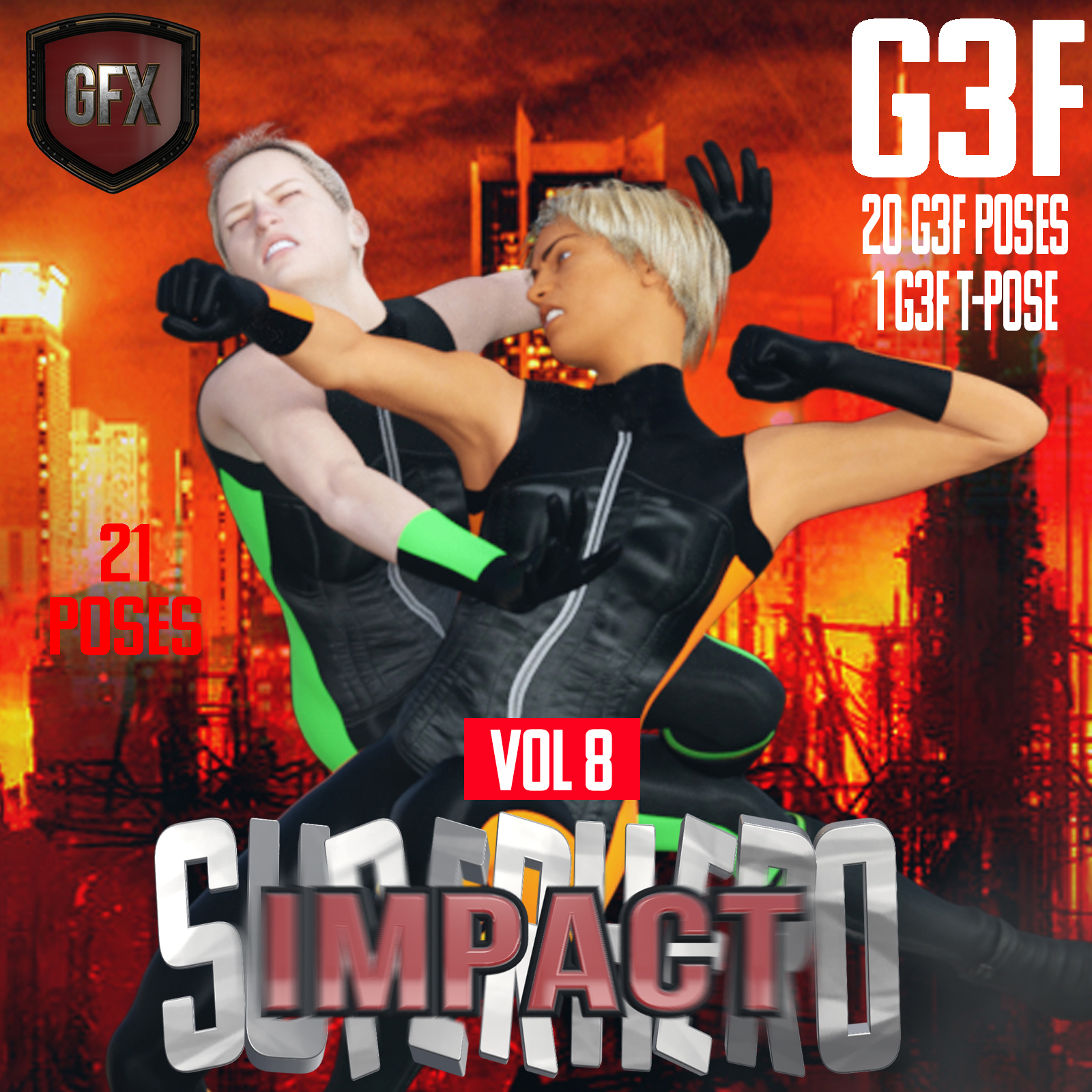 SuperHero Impact for G3F Volume 8 by GriffinFX