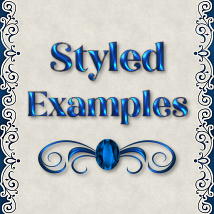 Classic Blue Jeweled PS Layer Styles image 1