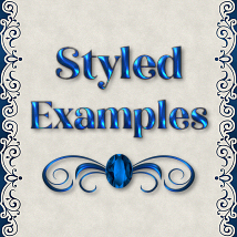 Classic Blue Jeweled PS Layer Styles image 3