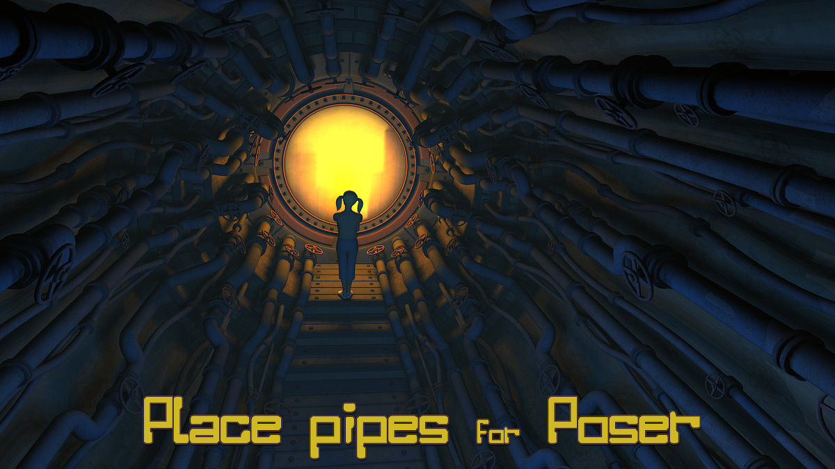 Place Pipes  for Poser by 1971s