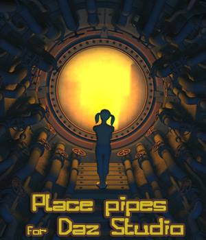 Place pipes for Daz Studio 3D Models 1971s