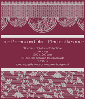 Lace Patterns and Trims 2D Graphics Merchant Resources antje