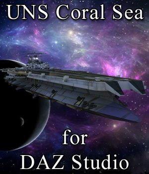 UNS Coral Sea Space Carrier for DAZ Studio 3D Models VanishingPoint
