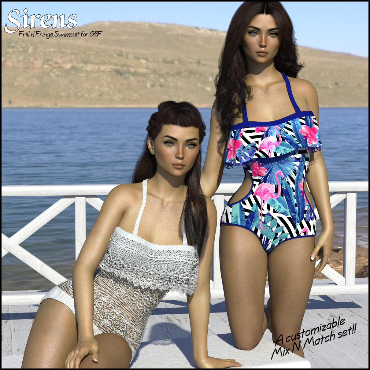 Sirens: Frill n' Fringe Swimsuit for G8F by 3-DArena