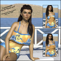 Sirens: Frill n' Fringe Swimsuit for G8F image 1