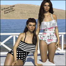 Sirens: Frill n' Fringe Swimsuit for G8F image 2