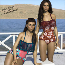 Sirens: Frill n' Fringe Swimsuit for G8F image 3