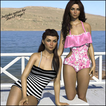 Sirens: Frill n' Fringe Swimsuit for G8F image 6