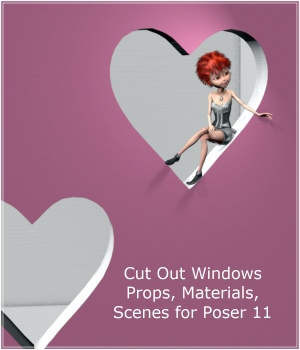 Cut Out Windows for Poser 11 3D Models PandaB5