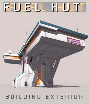 Fuel Hut FBX - Extended License 3D Game Models : OBJ : FBX 3D Models Extended Licenses shawnaloroc