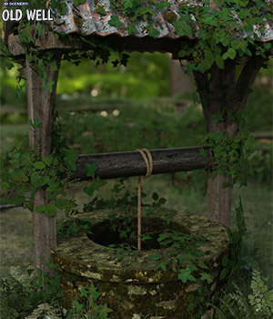 3D Scenery: Old Well - Extended License 3D Models Extended Licenses ShaaraMuse3D