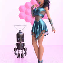 Cyber Dress for G8F image 2