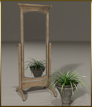 Vintage Furniture : Swivel Mirror for Poser 3D Models DreamlandModels