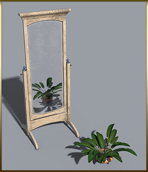 Vintage Furniture : Swivel Mirror for DS 3D Models DreamlandModels