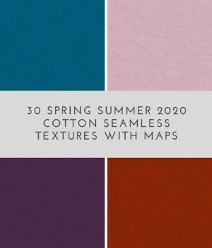 30 Spring Summer 2020 Cotton Seamless Textures with maps 2D Graphics Annikmi