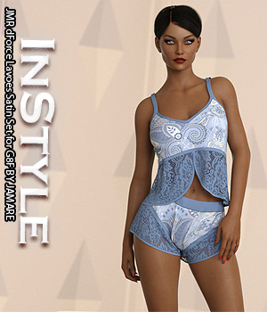 InStyle - JMR dForce Lavoes Satin Set for G8F 3D Figure Assets -Valkyrie-