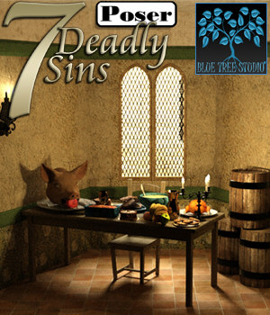 7 Deadly Sins for Poser 3D Models BlueTreeStudio
