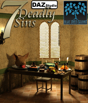 7 Deadly Sins for Daz Studio 3D Models BlueTreeStudio