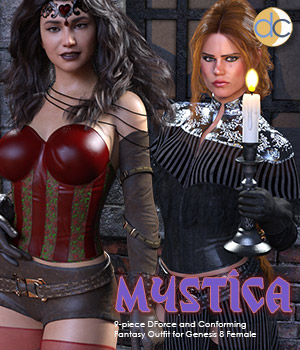 DC-Mystica for Genesis 8 Female 3D Figure Assets Deecey