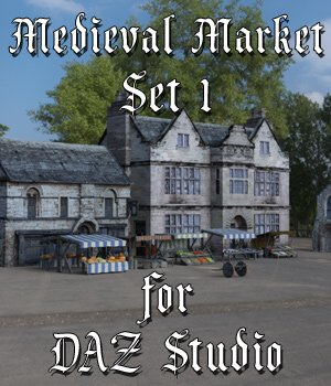 Medieval Market 1 for DAZ Studio 3D Models VanishingPoint