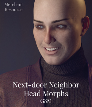 Next-door Neighbor Head Morphs G8M 3D Figure Assets Merchant Resources ColorGaleria