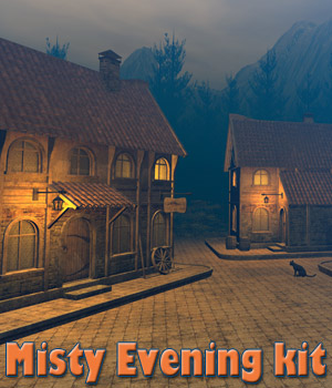 Misty Evening kit for DS 3D Models 1971s