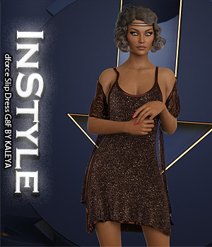 InStyle - dforce Slip Dress G8F 3D Figure Assets -Valkyrie-