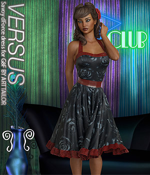 VERSUS - Savoy dForce dress for G8F 3D Figure Assets Anagord