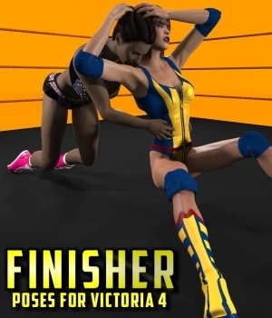 Finisher Poses for Victoria 4 3D Figure Assets DexPac