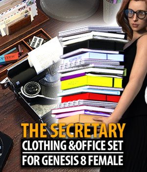 The Secretary for G8F 3D Figure Assets 3D Models powerage