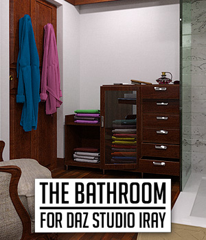 The Bathroom for DS Iray 3D Models powerage