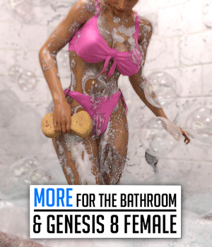 MORE for The Bathroom and G8F 3D Figure Assets powerage