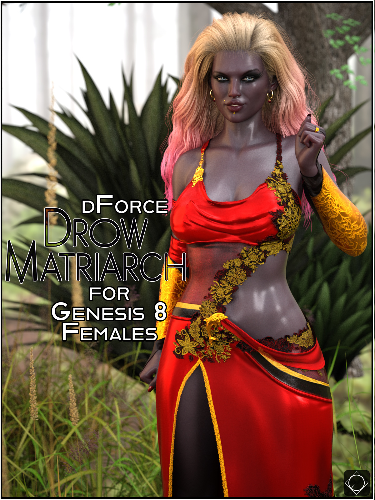 dForce Drow Matriarch for Genesis 8 Females by SWTrium