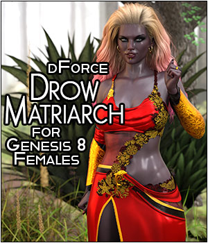 dForce Drow Matriarch for Genesis 8 Females 3D Figure Assets SWTrium