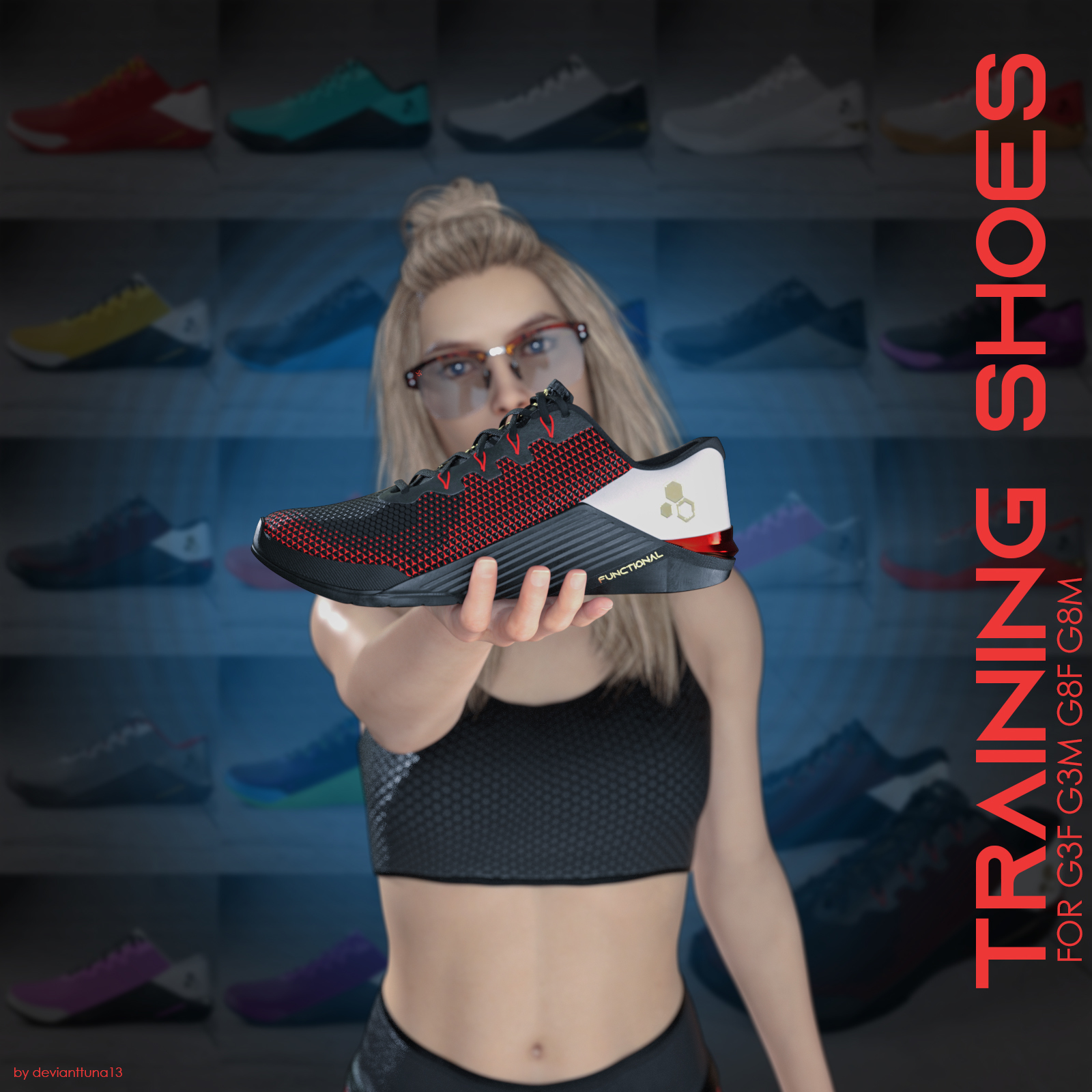 Functional Training Shoes  for Genesis 3 and 8 by devianttuna13