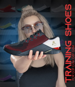 Functional Training Shoes  for Genesis 3 and 8 3D Figure Assets devianttuna13