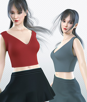 dForce It Girl for Genesis 8 Female 3D Figure Assets Imaginary3D