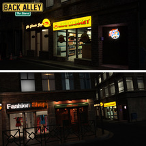 Back Alley The Stores for DS Iray - Extended License image 3
