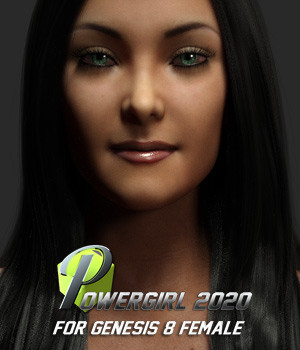 Powergirl 2020 for G8F 3D Figure Assets powerage