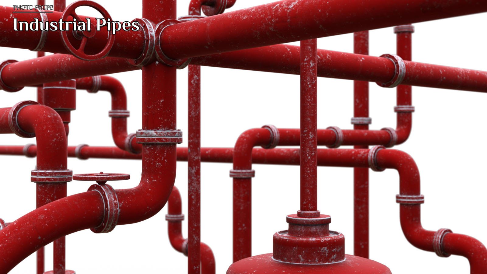 Photo Props: Industrial Pipes - Extended License by ShaaraMuse3D