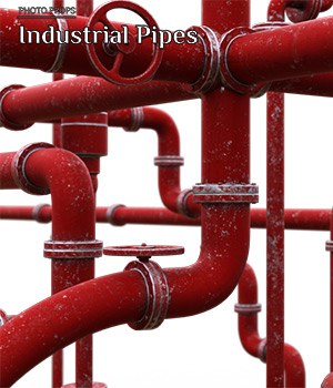 Photo Props: Industrial Pipes - Extended License 3D Models Extended Licenses ShaaraMuse3D